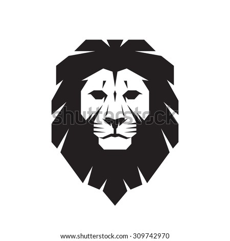 lion head   vector sign concept