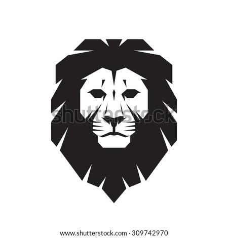 lion head   vector sign concept