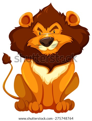 lion in sitting posture on