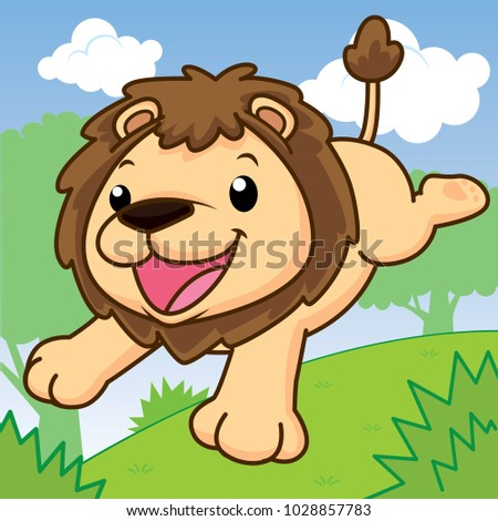 Playing cubs download free vector art stock graphics images lion is running cute cartoon animal cut vector voltagebd Images