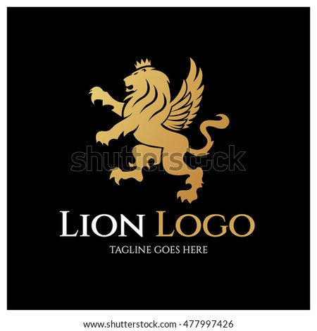 royalty free stock photos and images: lion king logo design