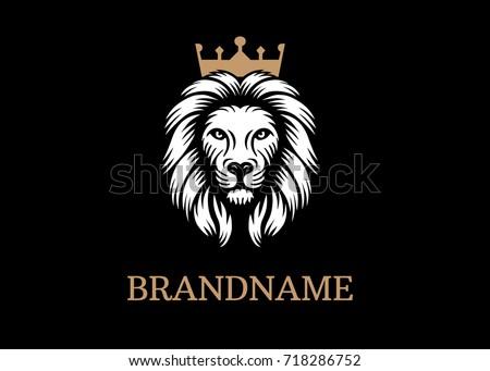 Lion king logo template. Vector illustration.