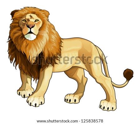 lion king vector isolated