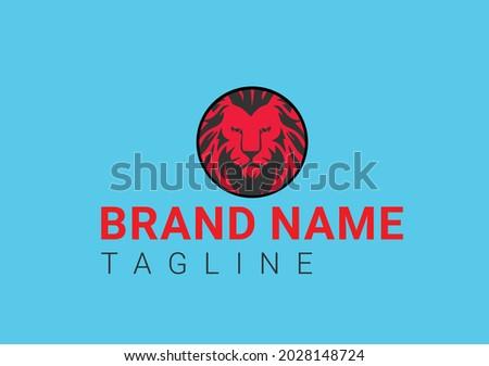 lion logo and icon design