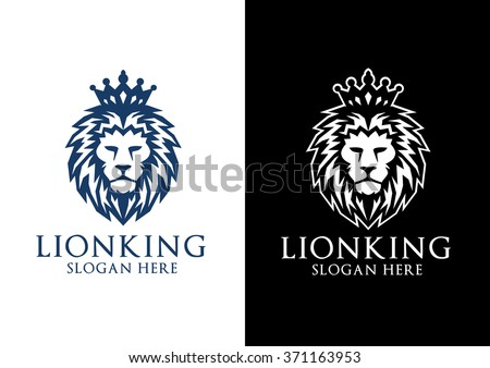 Lion Logo Elegant Vector Design The King