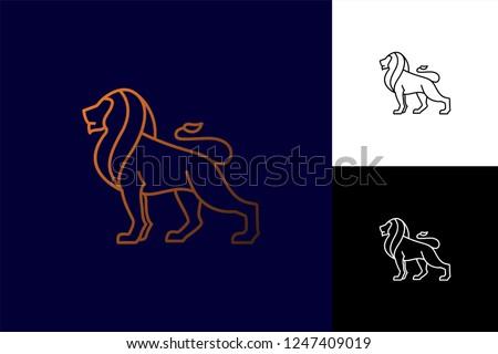 lion logo vector lion line art