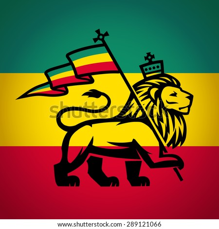 lion of judah with a rastafari
