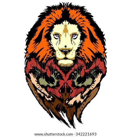 Lion Pop Art Wild Look