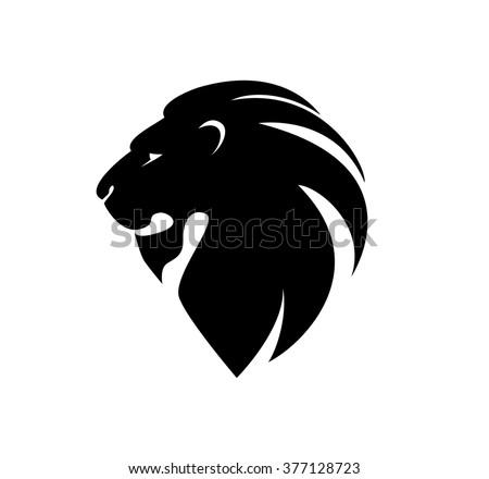 lion's head in profile