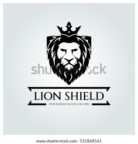 lion shield logo design