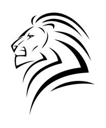 Lion tattoo - vector illustration