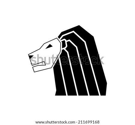 lion vector icon - 211699168 : shutterstock