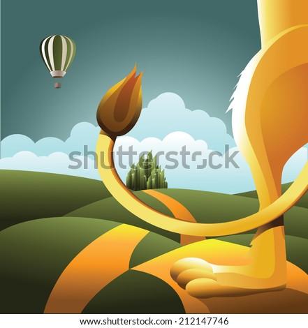 lion watches balloon eps 10