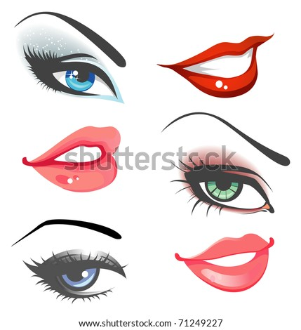 lips   eyes set
