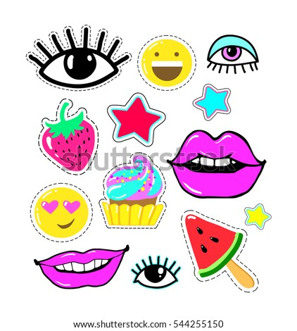 lips  eyes  smile  star  candy