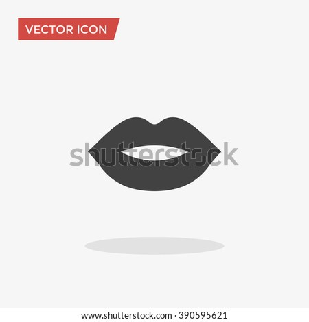 lips icon in trendy flat style
