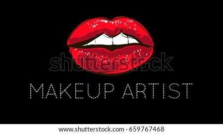 lips logo design concept of a