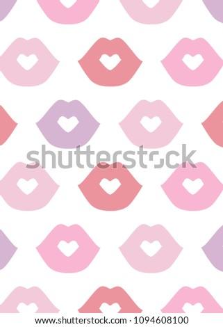 lips pattern vector pattern