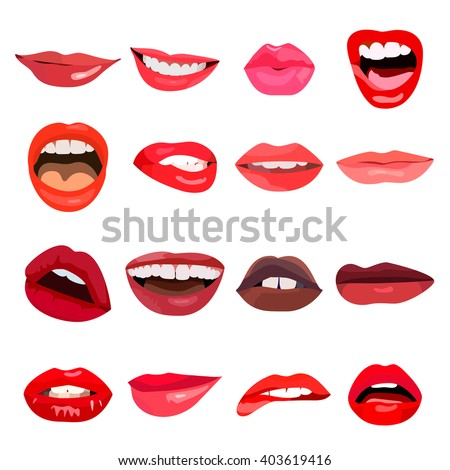 lips set lip design element