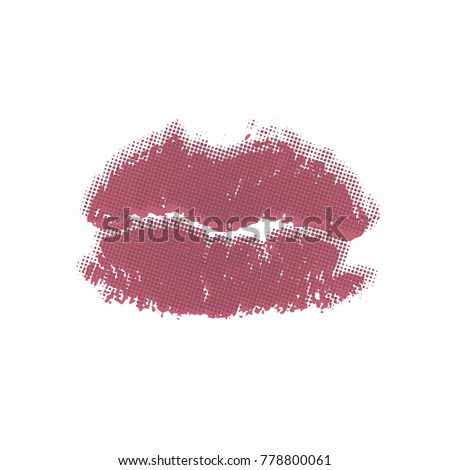 lips track print stamp of