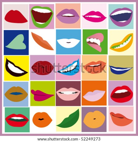 Lips women pop art