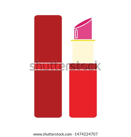 lipstick icon. flat illustration of lipstick vector icon. lipstick sign symbol
