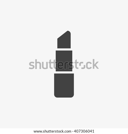 lipstick icon in trendy flat