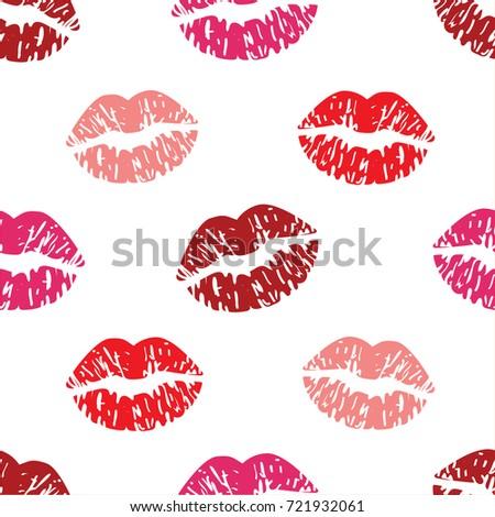 lipstick kisses pattern