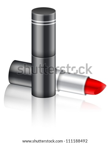 Lipstick on a white background. Vector illustration.