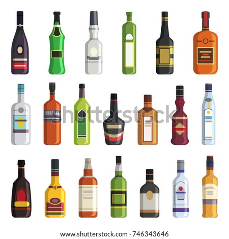 liqueur  whiskey  vodka and