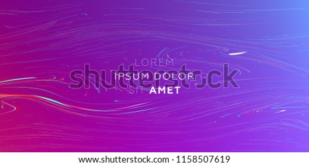Liquid abstract flow. Dynamic fluid trendy background for posters, covers and placards. Eps10 vector illustration
