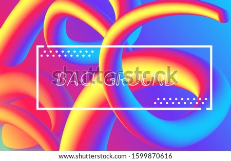 liquid background with various shapes and various colors