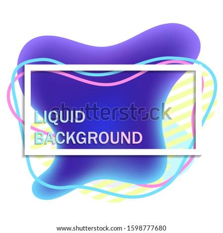 Liquid beautiful background, banner. Modern design backgroud. Fluid isometric background. Vector stoсk graphics.