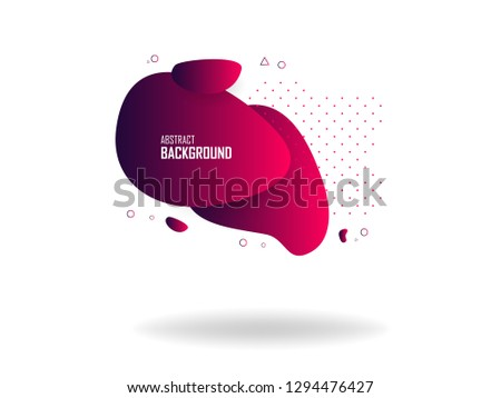 Liquid color abstract shapes, abstract design background. Abstract vector gradient elements for logo, banner, post #1294476427