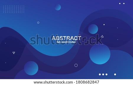 Liquid color background design. Blue elements with fluid gradient. Dynamic shapes composition. Eps10 vector