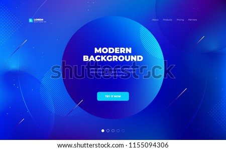 Liquid color background design. Fluid gradient shapes composition. Futuristic design landing page. Eps10 vector.