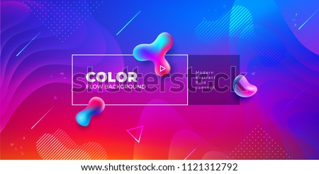 Liquid color background design. Fluid gradient shapes composition. Futuristic design posters. Eps10 vector. - Shutterstock ID 1121312792