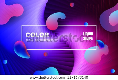 Liquid color background design. Fluid gradient shapes composition. Futuristic design posters. Eps10 vector. #1171673140