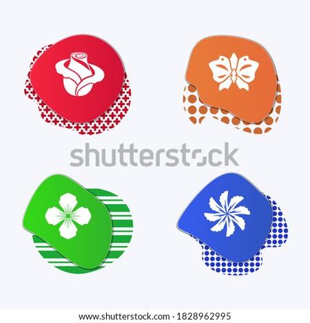 liquid colored badges flower
