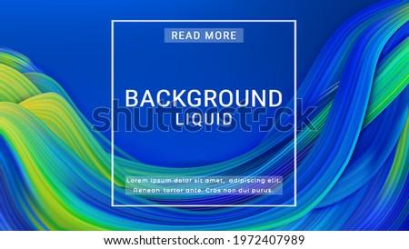 liquid colorful flow design