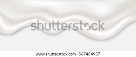 liquid creamy white texture...