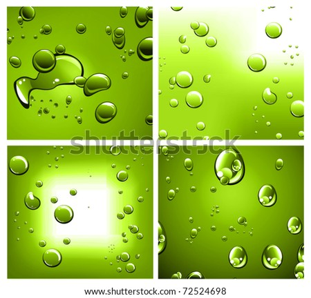 Liquid Drops Background with Strong Colour Contrast