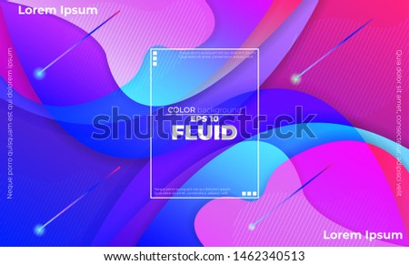 Liquid  flow  fluid background. Fluid colors shapes. Applicable for gift card cover poster. Poster design. Poster on wall poster template,landing page. Fluid colorful shapes composition