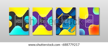 Liquid, flow, fluid background set. Fluid colors shapes . Applicable for gift card,cover,poster.  Poster design. Poster on wall poster template