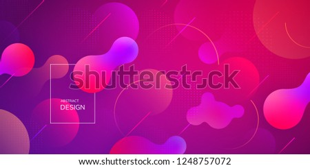 Liquid gradient shapes composition. Futuristic design posters. Vector abstract background.