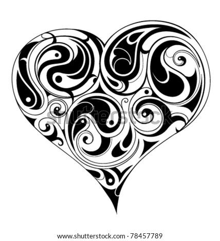 Liquid heart shape