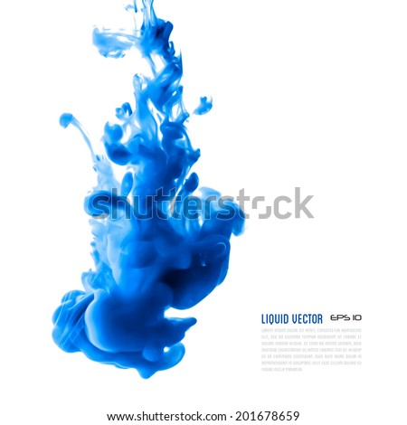 Liquid ink cloud. Vector abstract background for banner, card, poster or web design.
