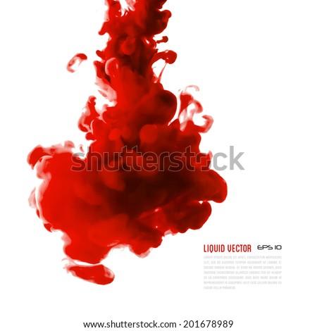 liquid ink cloud vector