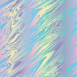 Liquid marble holographic pearlescent opalescent geometric seamless repeat vector pattern swatch.