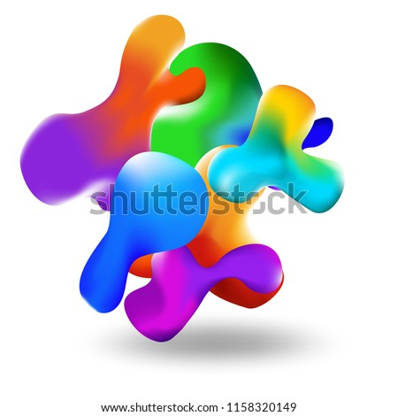 Liquid multi-colored background. Liquid form for color. Eps10 vector. Texture for sites, landings and background #1158320149